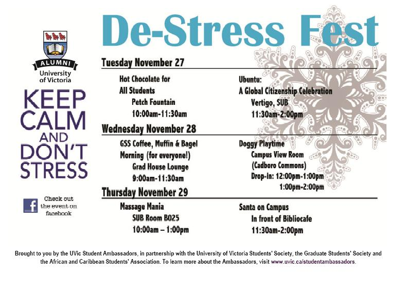 ways to destress in college